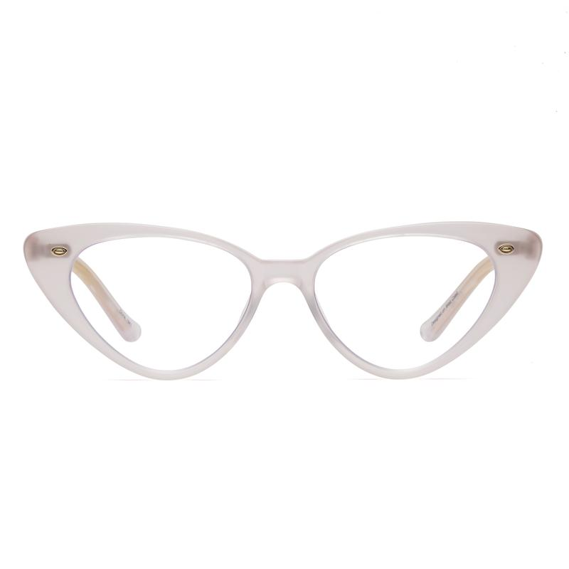 PEARLY PINK VINTAGE CATEYE EYEGLASSES BY CADDIS EYE APPLIANCES