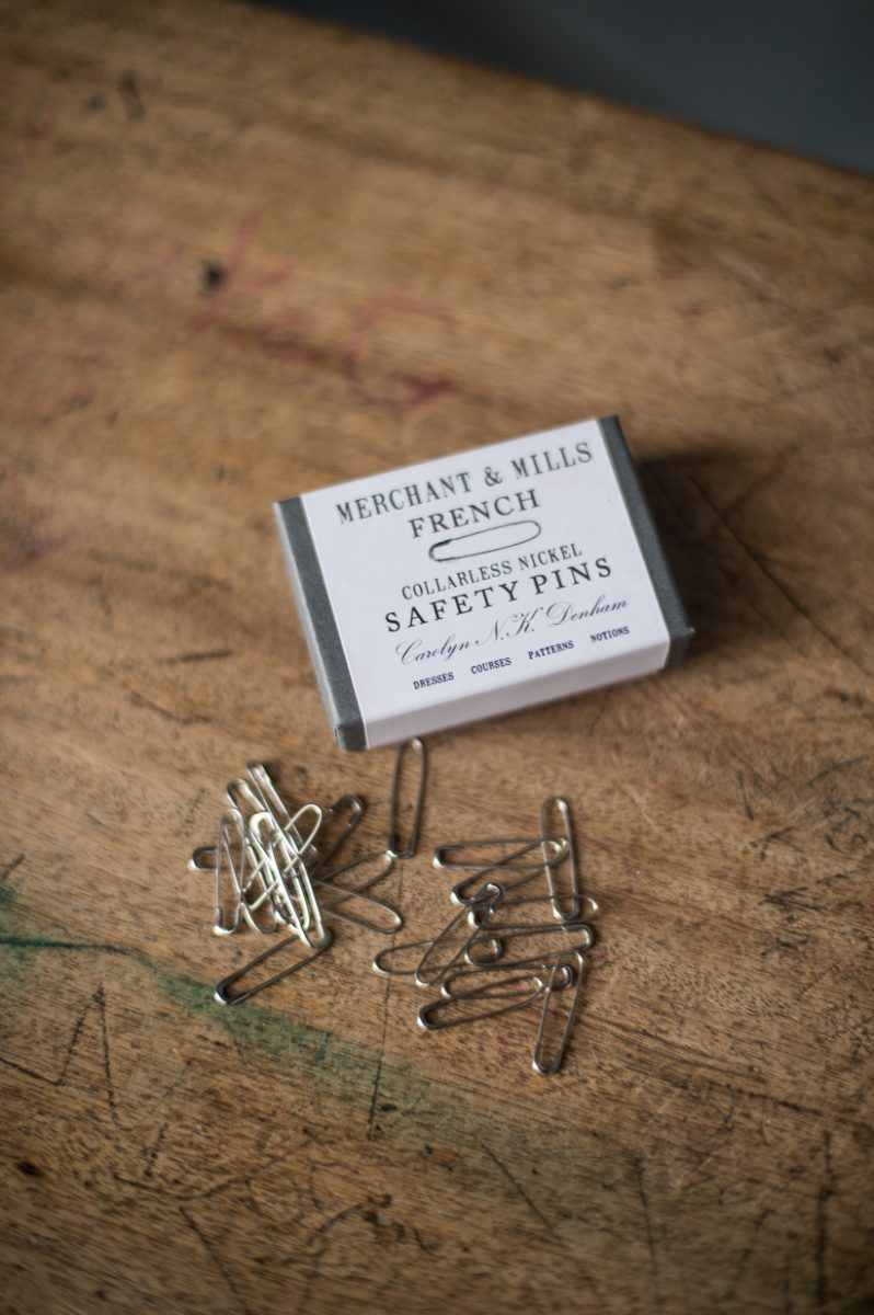Nickel French Safety Pins | Merchant & Mills
