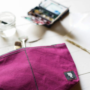 Sturdy Girl Zipper Pouch by Adelene Simple Cloth