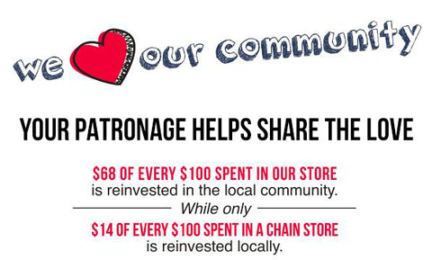 We love our Community - YOUR PATRONAGE HELPS SHARE THE LOVE