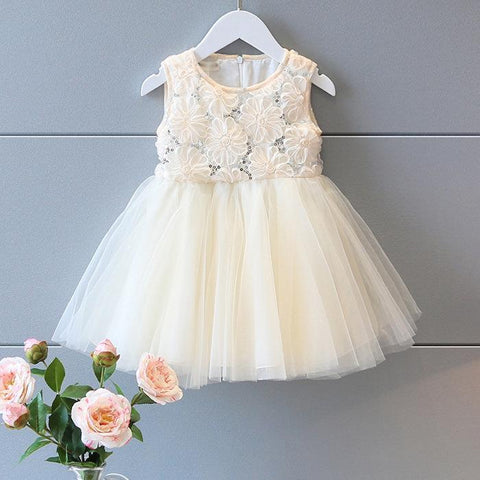 toddlers white tulle party dress