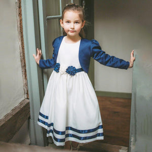 Young girl modelling dress