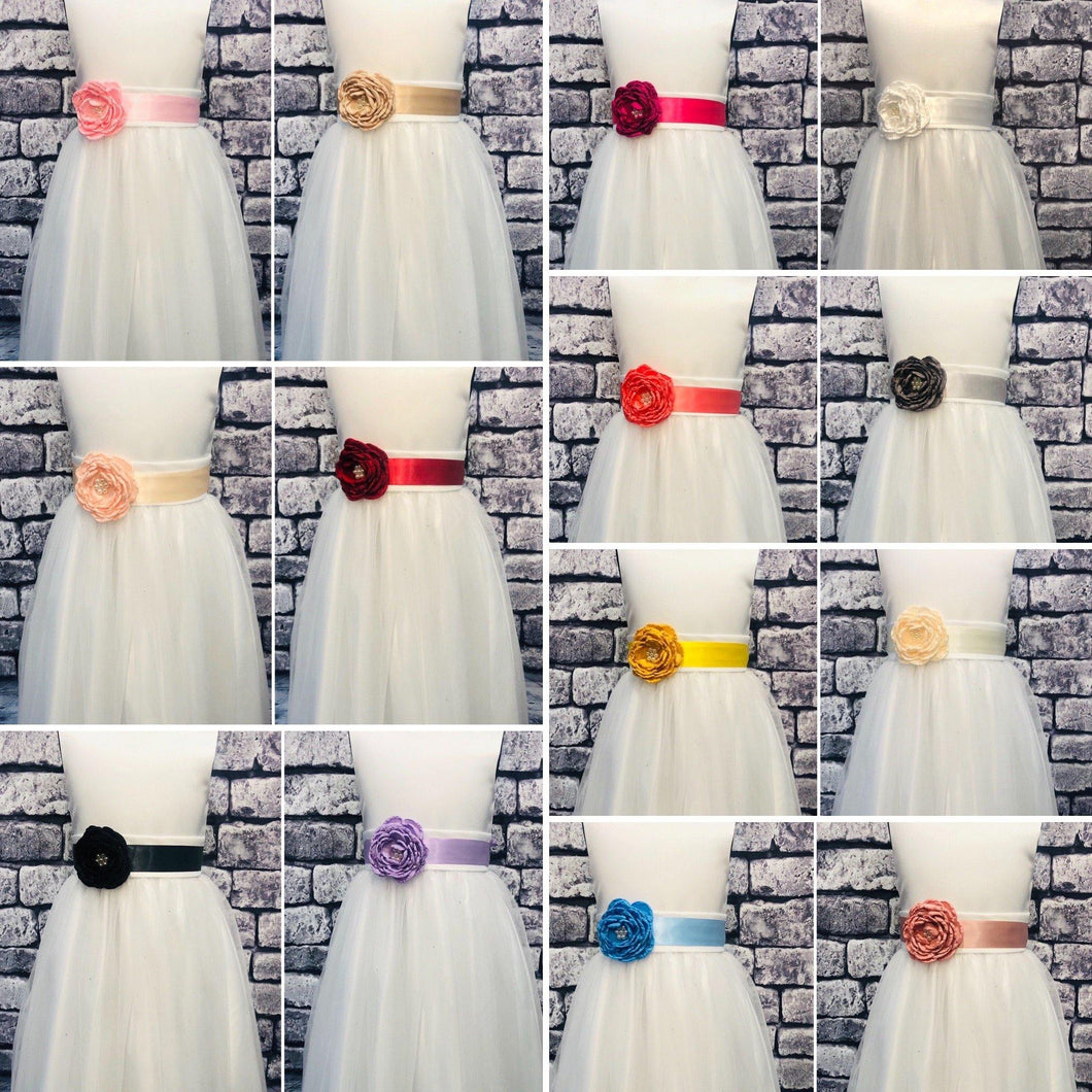Single Flower Girl Corsage - Various Colours