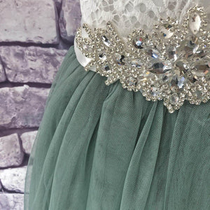 jewelled waistband of dress