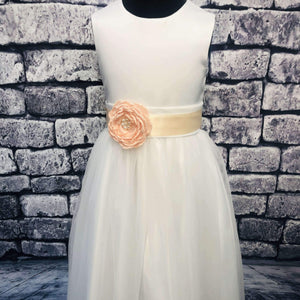 Flower Girl Corsage in Peach