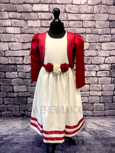 Miss Dee Dress and Bolero in Red