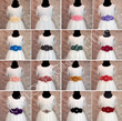 Various colours of Triple Flower Girl Waist / Sash Corsage on white dresses