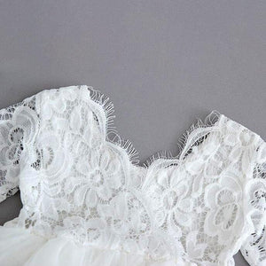 lace bodice on white dress
