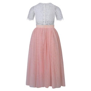 Felicity Couture girls outfit in blush