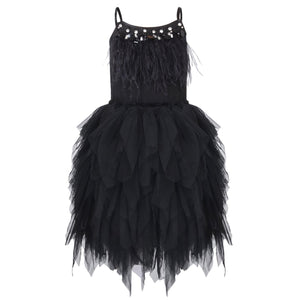 Girls ballerina style dress in black