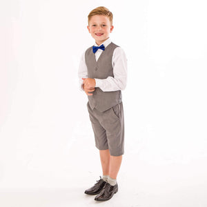 boy wearing UK Flower Girl Boutique Peaky Rascals boys wear
