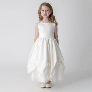 Girl modelling Verona Dress by UK Flower Girl Boutique