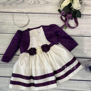 'Miss Dee' Dress and Bolero - Purple