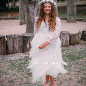 Ivory Lace Girls Dress