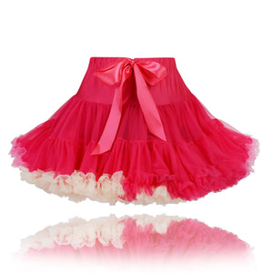 Raspberry coloured girls couture princess Pettiskirt