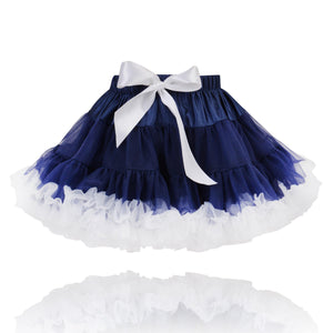 Navy Blue and White Classic Princess Pettiskirt