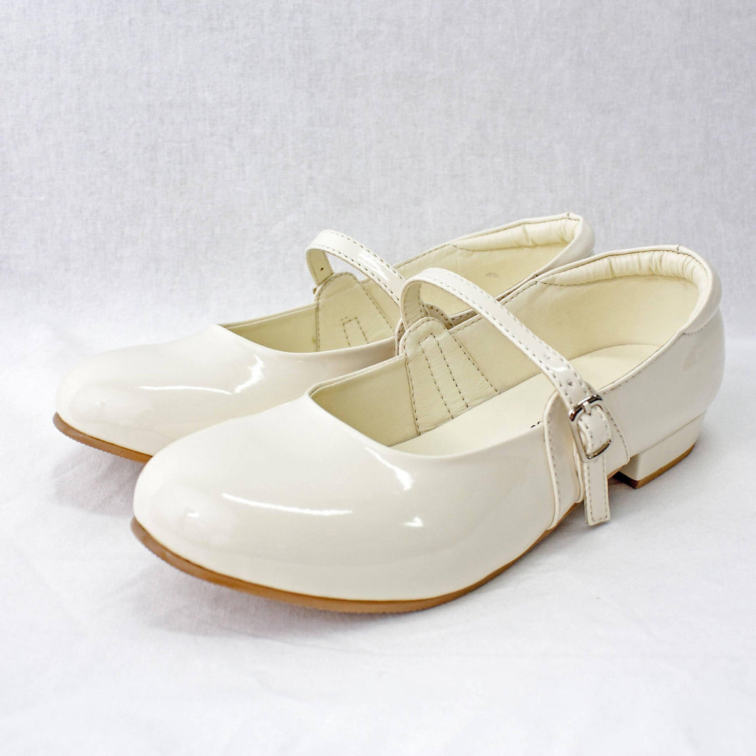 Cream Crystal Patent Shoes
