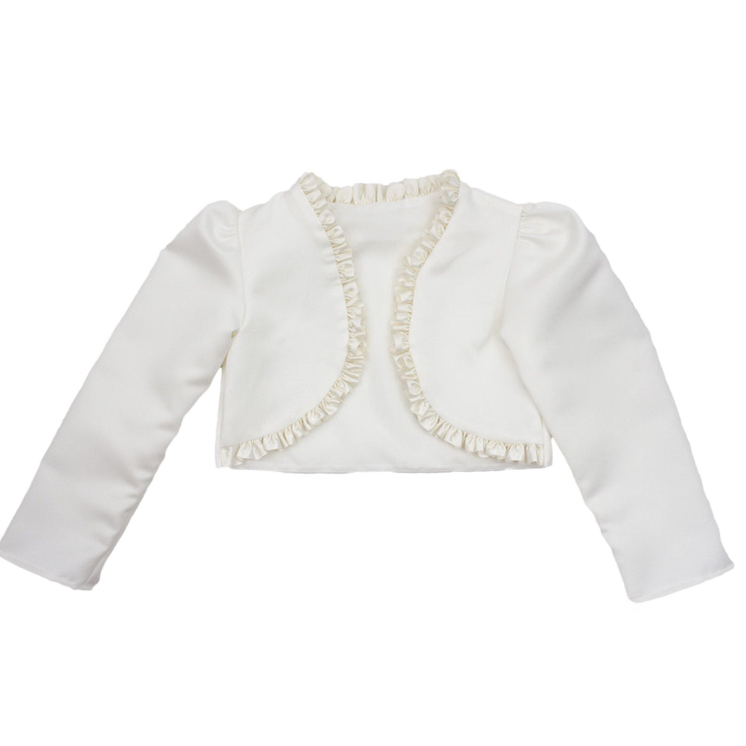 White Frilled Bolero