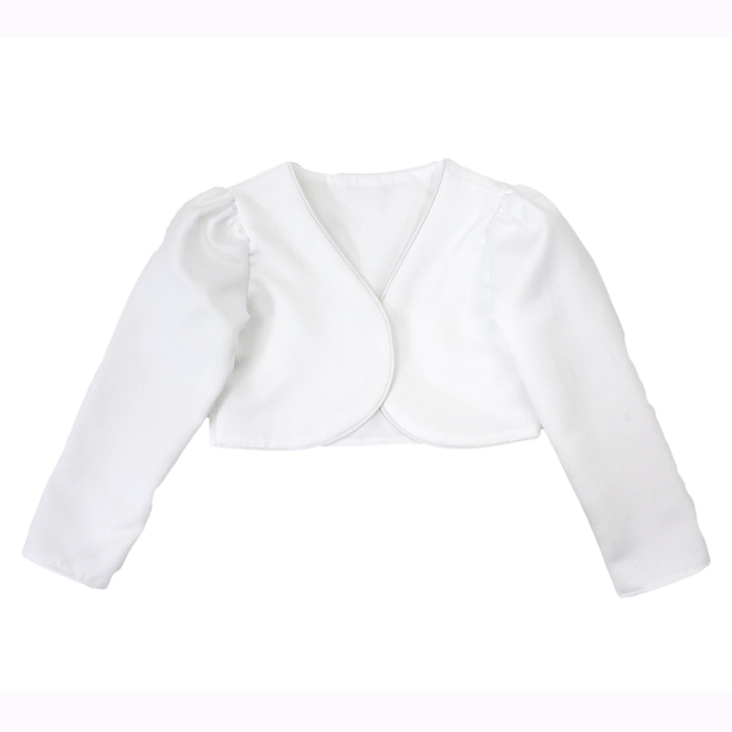Girls White Bolero