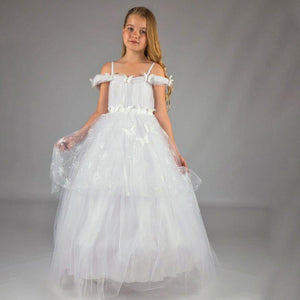 Butterflies and Sparkle Communion Dress