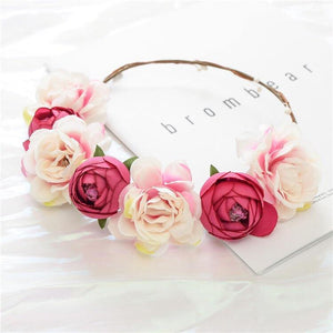 Girls floral head garland