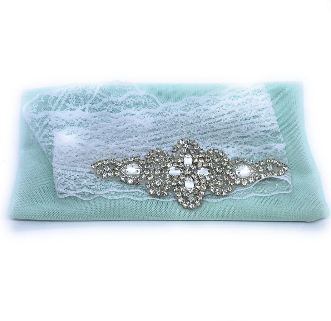 Flower Girl Diamanté Waist Sash