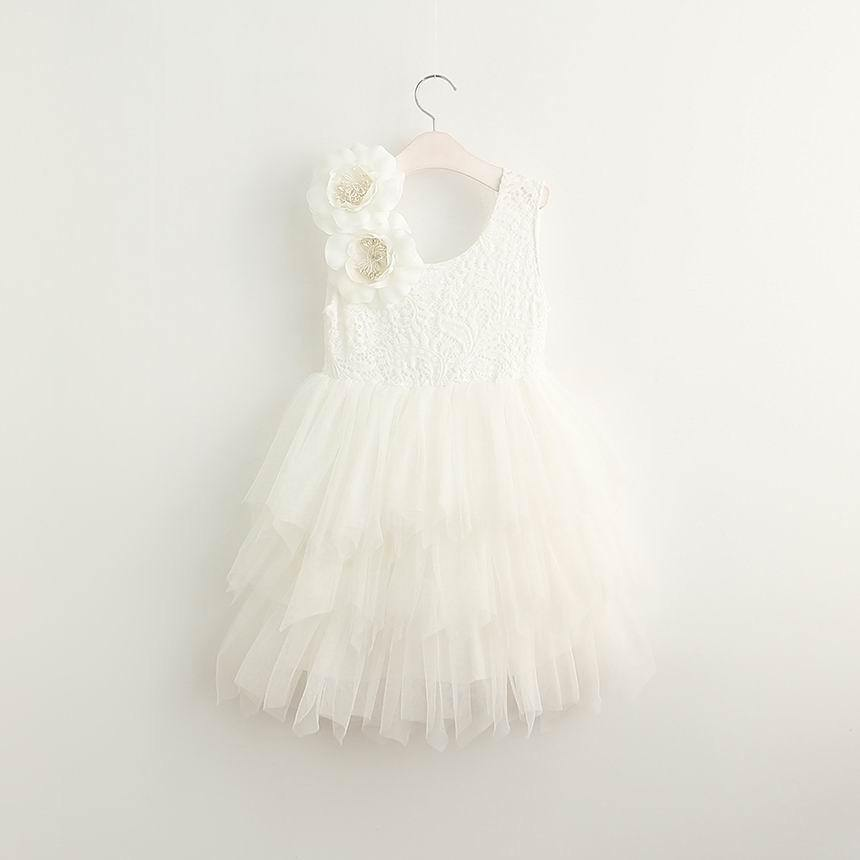 Boho Dreams Dress - White Flower