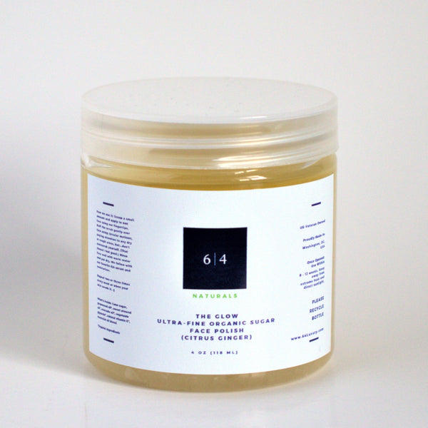 Ultra-Fine Organic Sugar Face Polish (Citrus Ginger)
