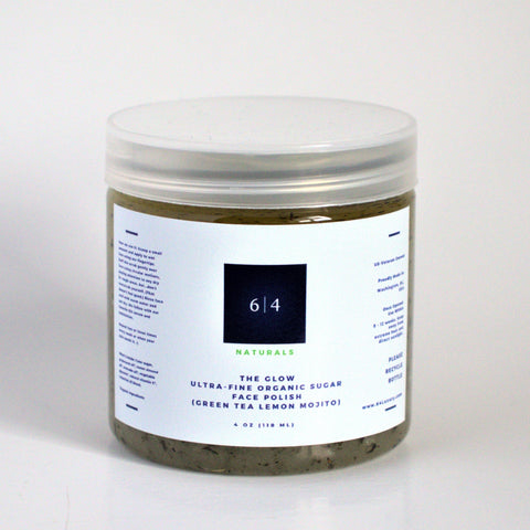 Ultra-Fine Organic Sugar Face Polish (Green Tea Lemon Mojito)