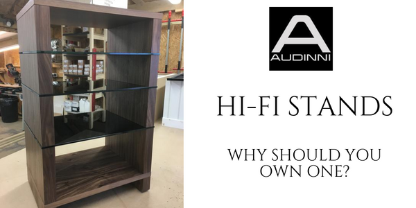 Hi Fi Rack with Natural Walnut with AV Furniture Glass Shelves