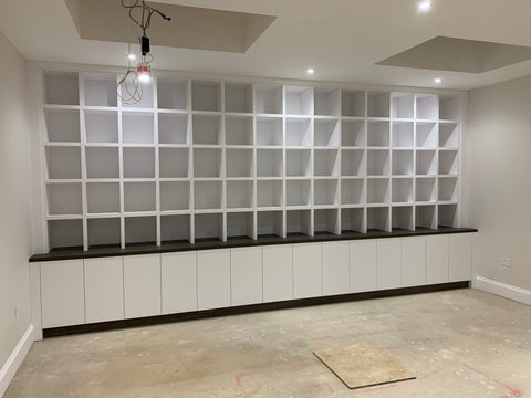 Vinyl Storage Unit for the wall, holding 6,000 vinyls