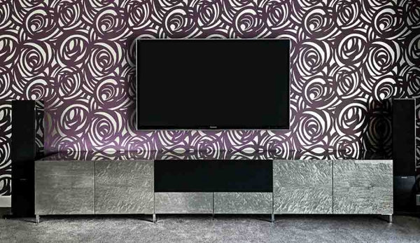 Bespoke AV Furniture Home Cinema system with Audio Visual Equipment and large AV Cabinet