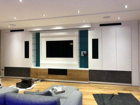 Large TV Cabinet with home cinema integration