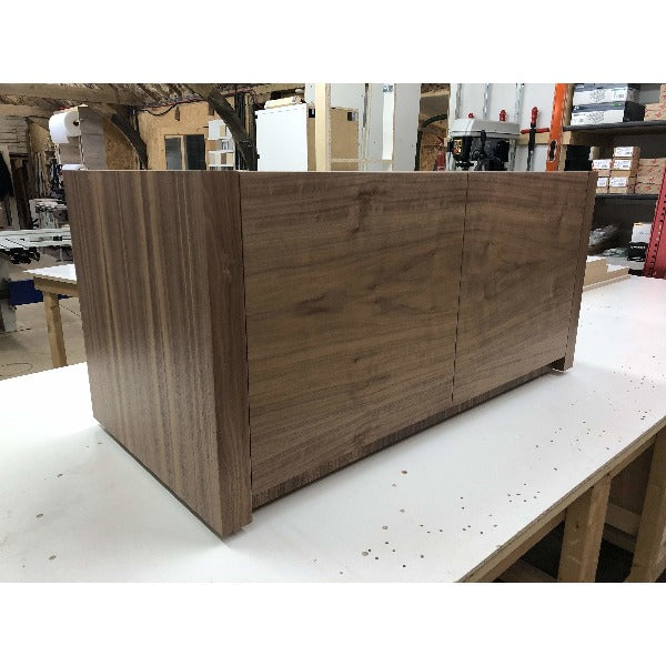 Solid Duo Medium AV Cabinet in wood  - Audinni