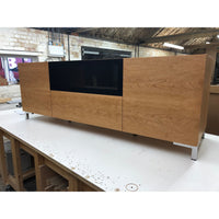 Bespoke Large Hi-fi & AV Cabinet in Cherry with Speaker Grill