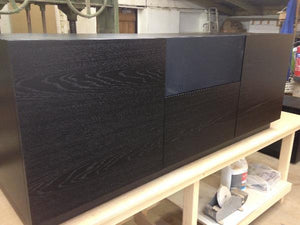 Large AV Cabinet in Black Oak