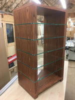 Bespoke HiFi Stand in Rosewood with Clear Glass Shelves