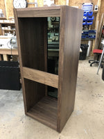 Bespoke Tall HiFi and AV Unit in Walnut with an open back