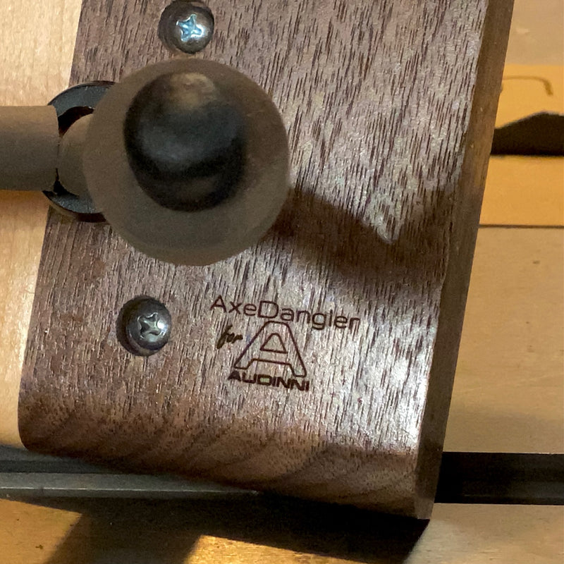 Axe Dangler for Audinni Guitar Mount in walnut hardwood