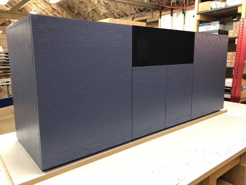 Gravity Quatrro Large AV Cabinet in slate grey - Audinni