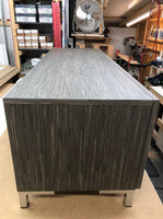 Large AV Cabinet in Light Grey Stripe Veneer