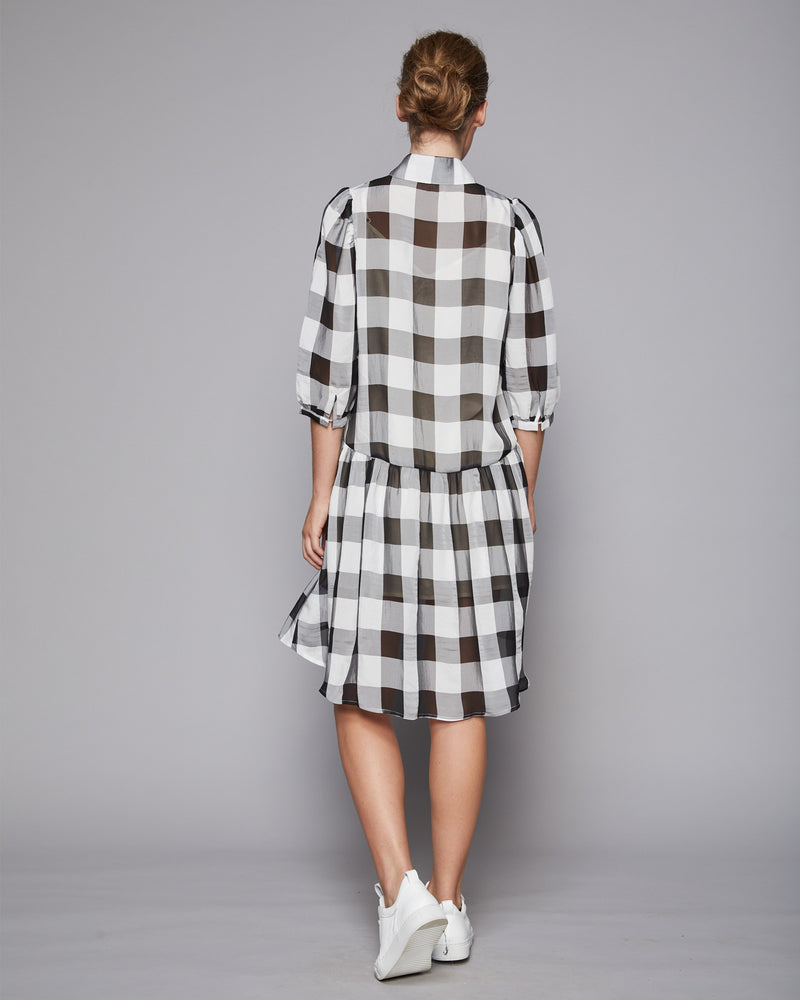 pulse dress - black check