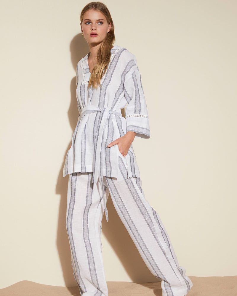 fore pant - anchor stripe
