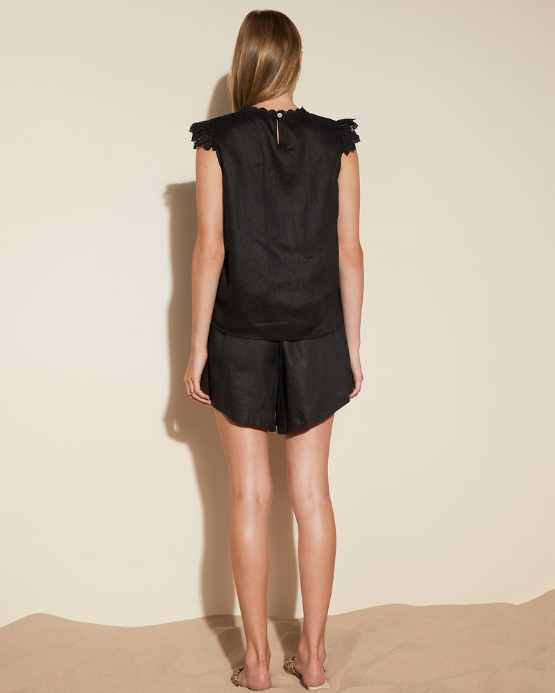 curfew top - black
