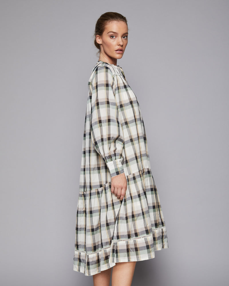 icon dress - khaki check