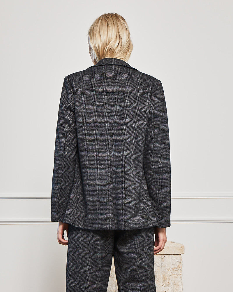 vow jacket - charcoal check