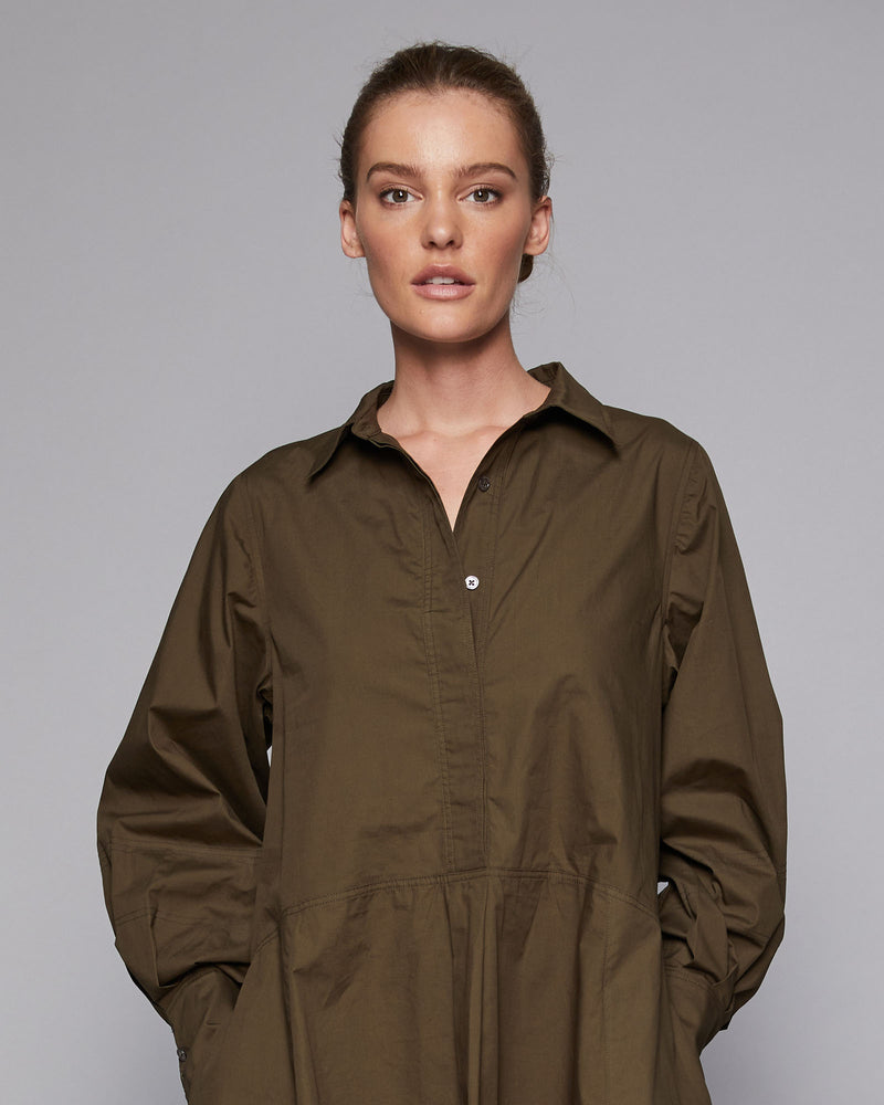 channel dress - khaki