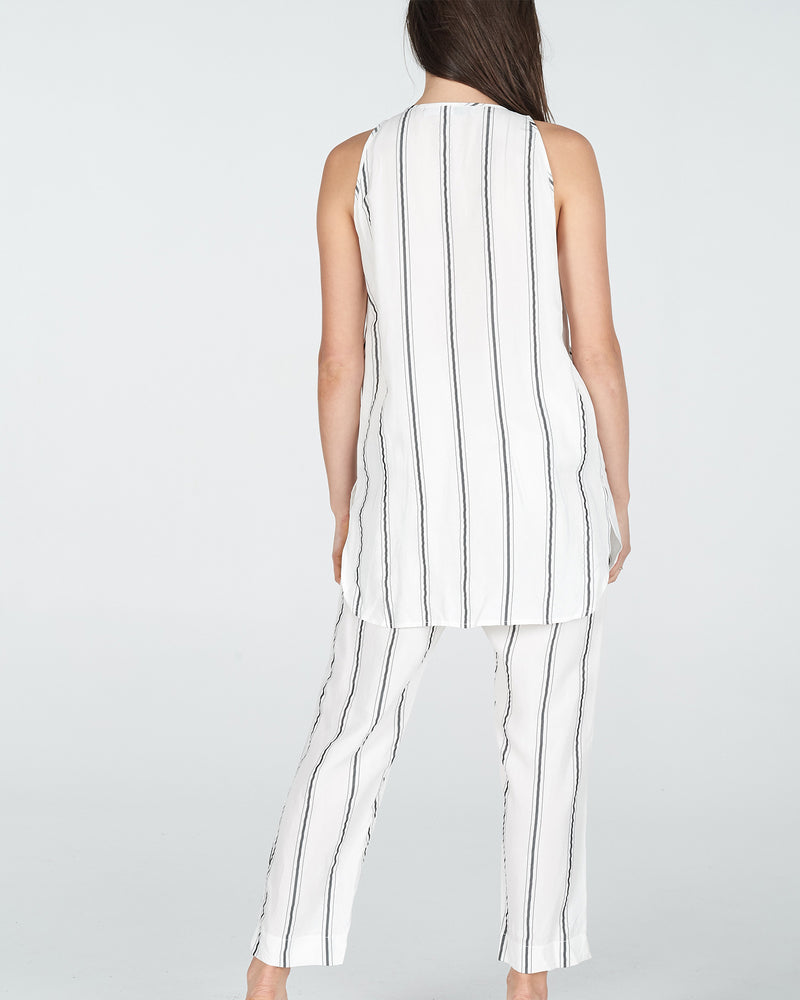 volley stripe - white/black stripe
