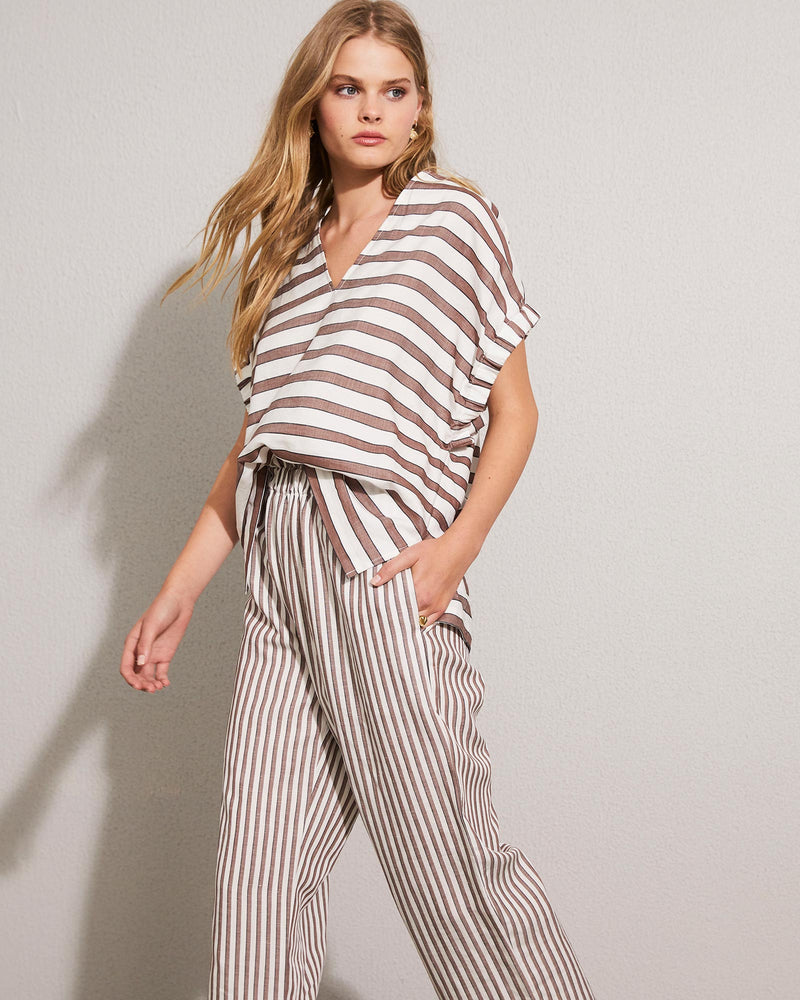 fore pant - cacao stripe