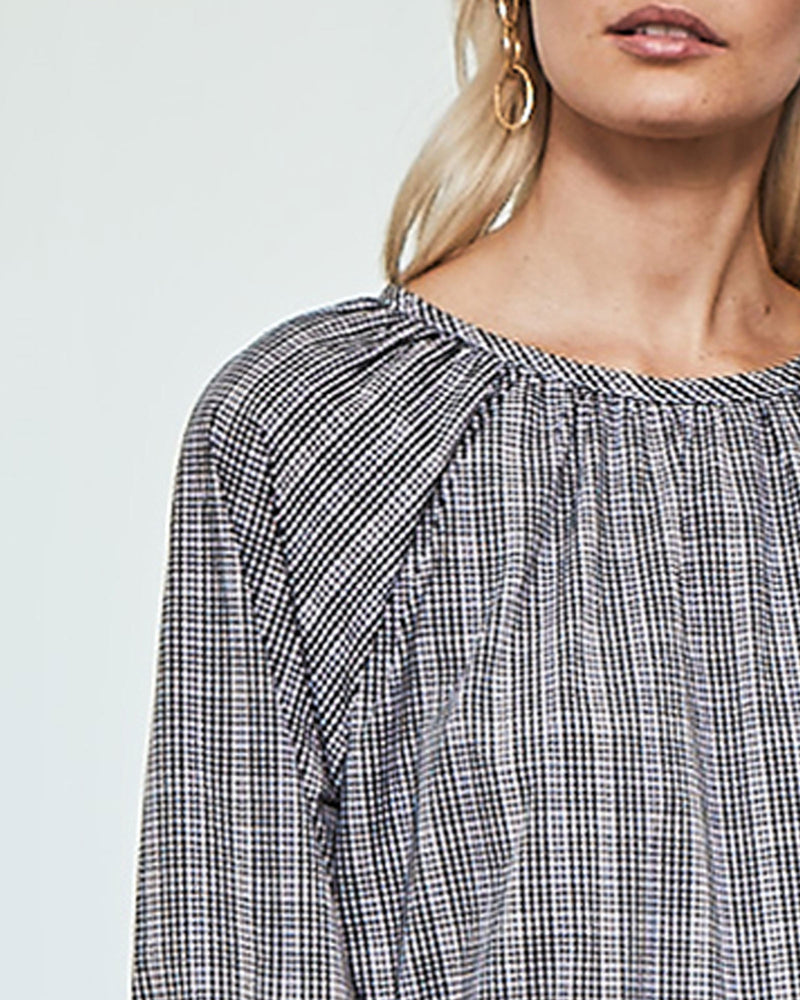 raft top - black & white gingham